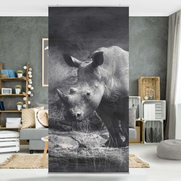 Raumteiler - Lonesome Rhinoceros 250x120cm