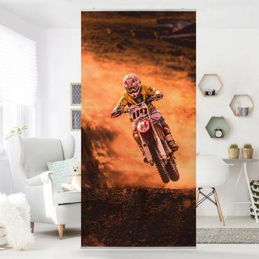 Raumteiler - Motocross Im Staub 250x120cm