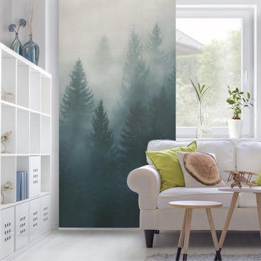 Raumteiler - Nadelwald im Nebel - 250x120cm