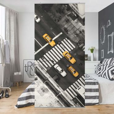 Raumteiler - New York City Cabs - 250x120cm