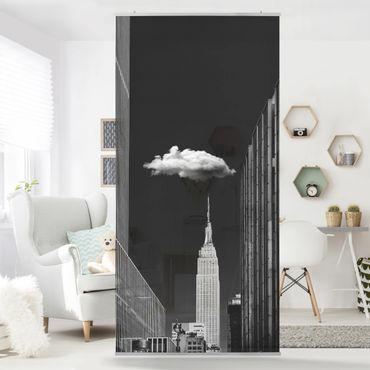 Raumteiler - New York mit einzelner Wolke - 250x120cm