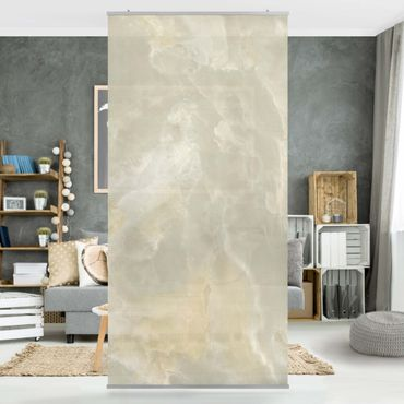 Raumteiler - Onyx Marmor Creme 250x120cm