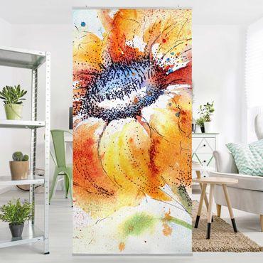 Raumteiler - Painted Sunflower 250x120cm