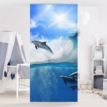 Raumteiler - Playing Dolphins 250x120cm