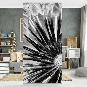 Raumteiler - Pusteblume Schwarz & Weiß 250x120cm