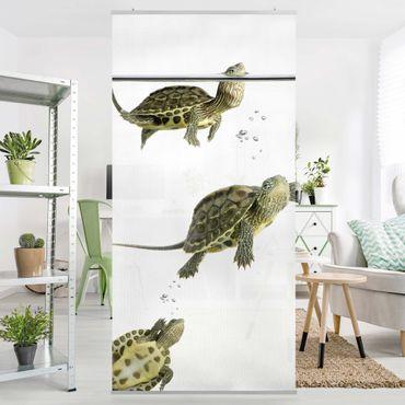 Raumteiler - Schildkröten Trio 250x120cm