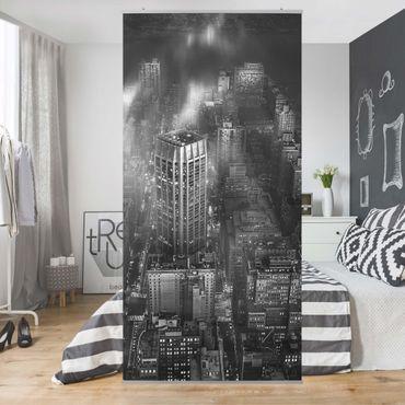 Raumteiler - Sonnenlicht über New York City - 250x120cm