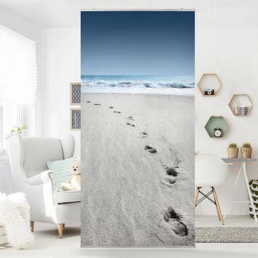 Raumteiler - Spuren im Sand 250x120cm