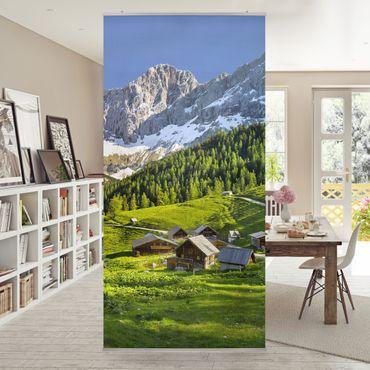 Raumteiler - Steiermark Almwiese 250x120cm