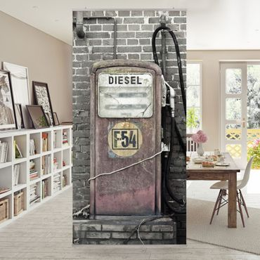 Raumteiler - Tankstelle 250x120cm