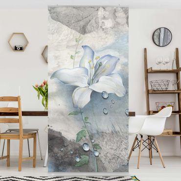 Raumteiler - Tränen einer Lilie 250x120cm