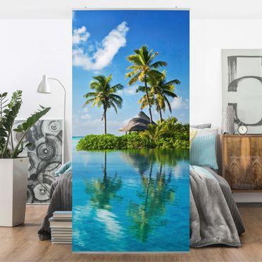 Raumteiler - Tropisches Paradies 250x120cm