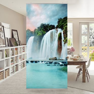 Raumteiler - Wasserfallpanorama 250x120cm