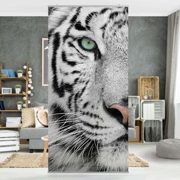 Raumteiler - Weißer Tiger 250x120cm