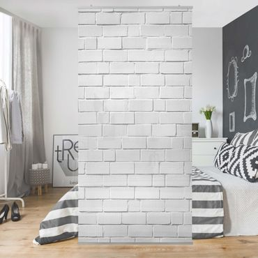 Raumteiler - White Stonewall 250x120cm