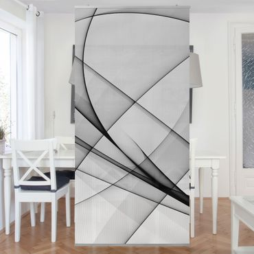Raumteiler - Winter Shapes 250x120cm