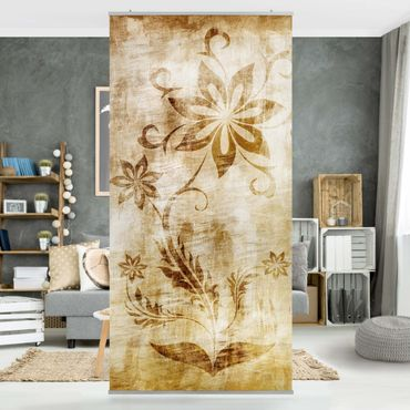 Raumteiler - Wooden Flower 250x120cm