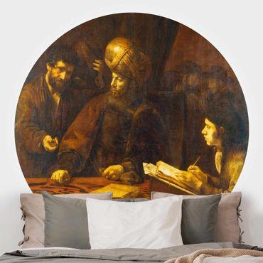 Runde Tapete selbstklebend - Rembrandt van Rijn - Gleichnis von Arbeitern