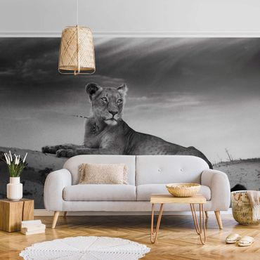Metallic Tapete  - Resting Lion