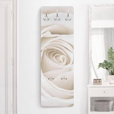 Rosen Garderobe Weiß - Pretty White Rose - Blumen Landhaus