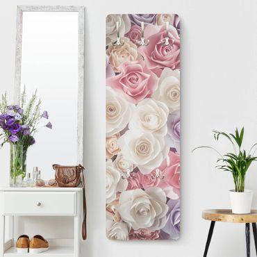 Rosen Garderoben - Pastell Paper Art Rosen - Landhaus
