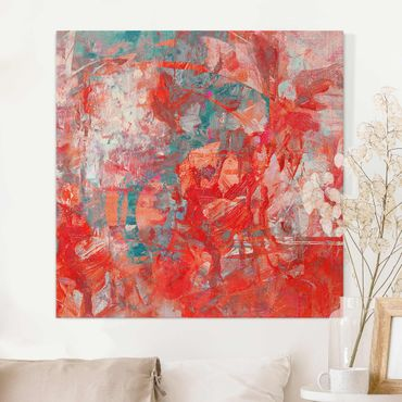 Leinwandbild - Roter Feuertanz - Quadrat 1:1