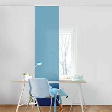 Schiebegardinen Set - Meerblau - Flächenvorhänge