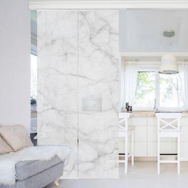 Schiebegardinen Set - Bianco Carrara - Flächenvorhänge