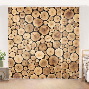 Schiebegardinen Set - Homey Firewood - Flächenvorhänge