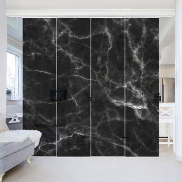 Schiebegardinen Set - Nero Carrara - Flächenvorhänge