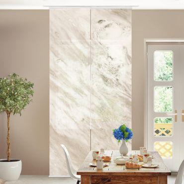 Schiebegardinen Set - Palissandro Marmor Beige - Flächenvorhänge