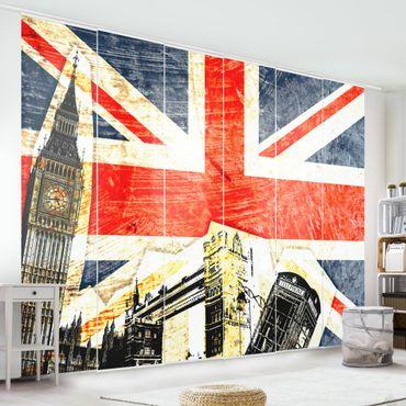 Schiebegardinen Set - This is London! - Flächenvorhänge