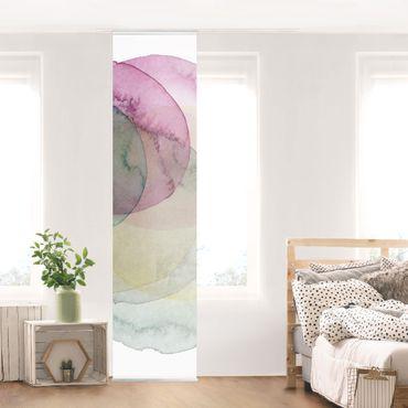 Schiebegardinen Set - Urknall - rosa - Flächenvorhang