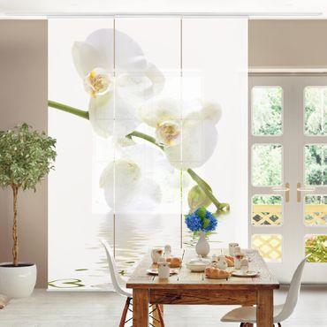 Schiebegardinen Set - White Orchid Waters - Flächenvorhänge