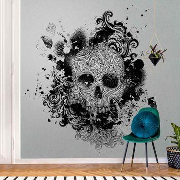 Metallic Tapete  - Skull