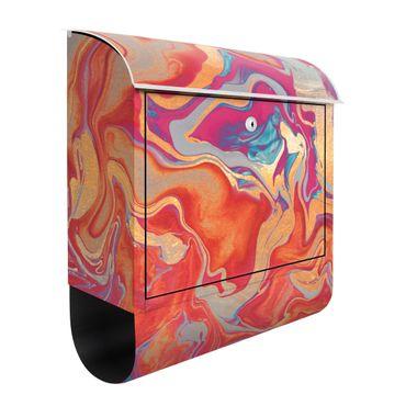 Briefkasten - Spiel der Farben Goldenes Feuer