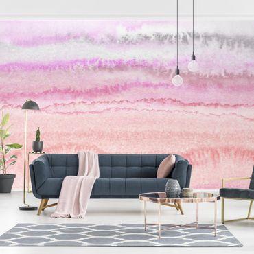 Fototapete - Spiel der Farben in Pink