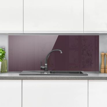 Spritzschutz Glas - Aubergine - Panorama Quer