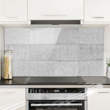 Spritzschutz Glas - Beton Ziegeloptik grau - Quer 2:1