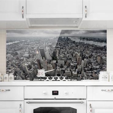 Spritzschutz Glas - Blick über Manhattan - Querformat 1:2