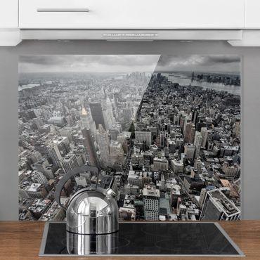 Spritzschutz Glas - Blick über Manhattan - Querformat 3:4