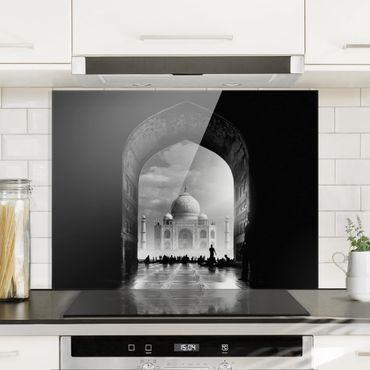 Spritzschutz Glas - Das Tor zum Taj Mahal - Querformat 3:4