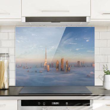 Spritzschutz Glas - Dubai über den Wolken - Querformat 3:4