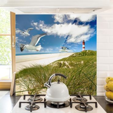 Spritzschutz Glas - Dune Breeze - Quadrat 1:1