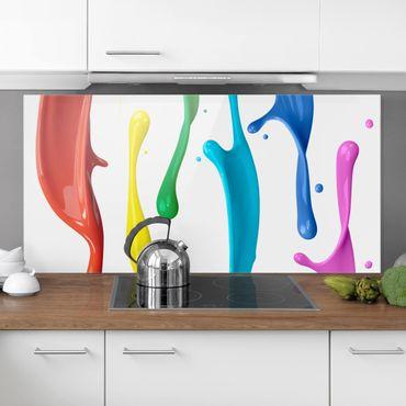 Spritzschutz Glas - Farbspritzer - Quer 2:1