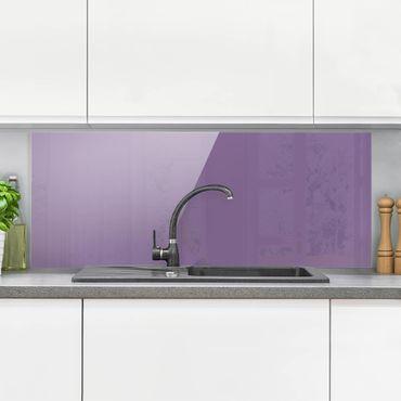 Spritzschutz Glas - Flieder - Panorama Quer
