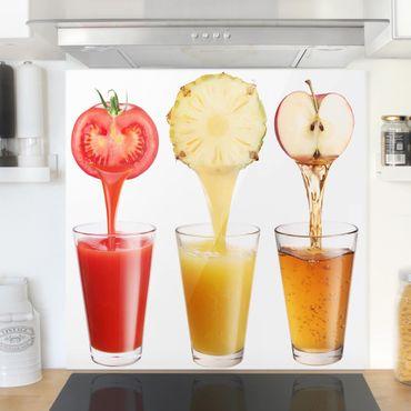 Spritzschutz Glas - Frisch gepresst - Quadrat 1:1