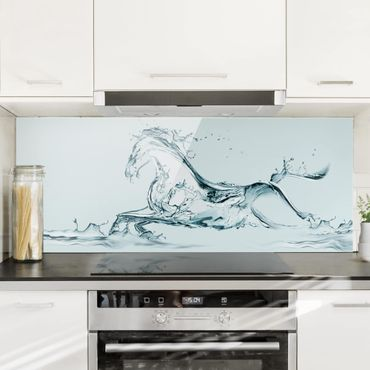 Spritzschutz Glas - Gläsernes Ross - Panorama Quer