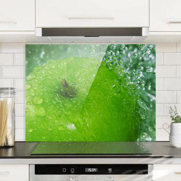 Spritzschutz Glas - Green Apple - Quer 4:3