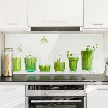 Spritzschutz Glas - Grüne Smoothie Kollektion - Panorama